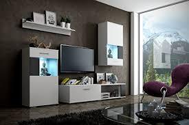debby moderne wohnwand exklusive mediamöbel tv schrank neue garnitur große farbauswahl rgb led beleuchtung verfügbar weiß mat base weiß mat