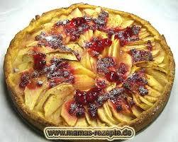 apfelkuchen mit preiselbeeren