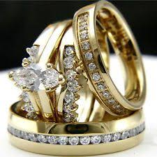 Princess Cubic Zirconia with Channel Sides 2 piece Ring Set In 14k