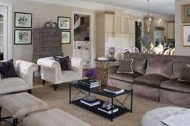 Living Room Decorating Brown Sofa by Brown Sofa With White Accent Chairs Transitional Living Room