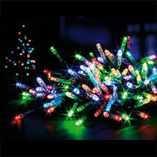 premier multi coloured 200 led christmas lights supabrights