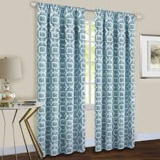 Moroccan Tile Curtain Panels by Decoration Orange And Aqua Curtains Inspiration Best Images About