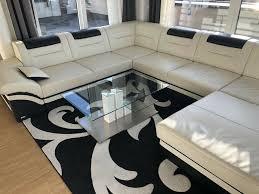 glastisch couchtsch nils hochglanz weiß edelstahl wohnzimmer