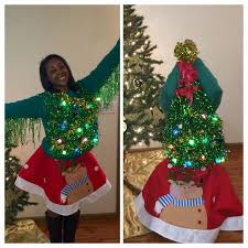 Ugly Christmas Tree Sweater With Skirt