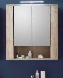 details zu spiegelschrank bad spiegel schrank eiche 70 cm badezimmer möbel beleuchtung