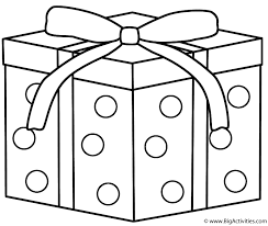 Gifts Presents Coloring Page Birthday Present Free