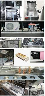 Four Wheel Mini Mobile Kitchen Truck For Snack Cooking / Ice Cream ...