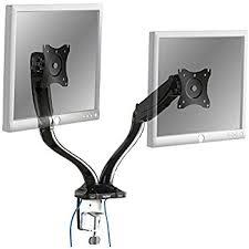 Vesa Desk Mount 100x100 by Vonhaus Gas Powered Dual Monitor Screen Desk Mount Arm Amazon Co