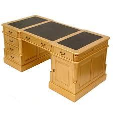 bureau stylé bureau doré anglais acajou plateau noir bristol meuble de style