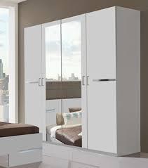 armoire chambre armoire 4 portes chambre à coucher blanc
