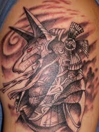 Red Eye Egyptian God Tattoo