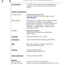Sample Of Resume For Housekeeping With No Experience Inspirationa Template Roho 4senses