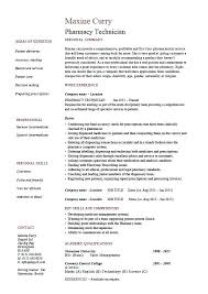 Competencies List For Resume by Pharmacy Technician Intern Resume Sle How To Start A Science