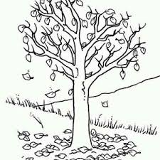 Fall Leaf Up On The Hill Coloring Page