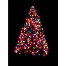 4 Ft Indoor Outdoor Pre Lit Incandescent Artificial Christmas Tree With Green Frame