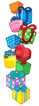 Gift clipart stack christmas presents 7