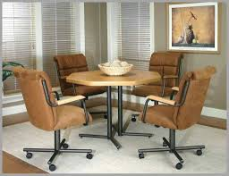 Upholstered Dining Room Chairs With Casters Elegant ...