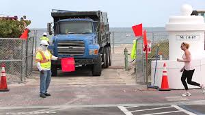 Dump Trucks Supply Sand For Largest Truck Haul Beach Renourishment ...