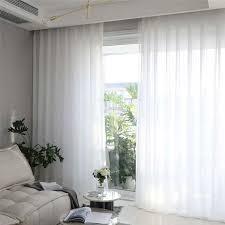 gardine transparent modern in weiß gardinen wohnzimmer