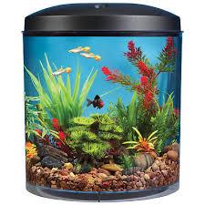 top fin皰 aquascene 180 degree 3 5 gallon aquarium kit small