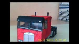 100 Trucks Paper Truck Model YouTube