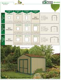 6 X 8 Gambrel Shed Plans by Csc Gable Shed