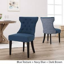 Louis Traditional Two Toned Fabric Dining Chair, Navy Blue And Blue Textured Fairy Contemporary Fabric Ding Chairs Set Of 2 Navy Blue Shelby Chair In Channel Tufted Velvet By Meridian Fniture Hanover Mcer 5piece Patio With 4 Cushioned And A 40inch Square Table Mercdn5pcsqnvy Colston Silver Leaf Including Brookville Harley Traditional Microfiber Details About Bates New Opal Room Gold William