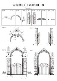 100 Arch D Rose Arch With Gate 120853 Metal Iron 265x190cm Growth Support
