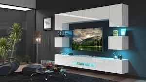moderne wohnwand schrankwand hochglanz wohnzimmer besta n1