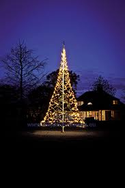 Flagpole Christmas Tree Lighting 6 M 20 Ft With Warm White Flash
