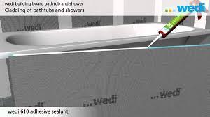 wedi building board bathtube eng
