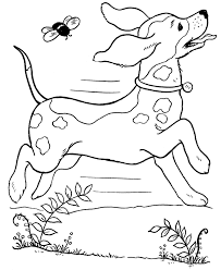 Cute Dog Coloring Pages To Print Printable Puppy Playing Page Dogs