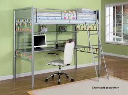 awesome loft beds with desk metalic bed computer dollhouse a