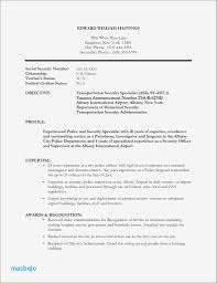 Security Officer Resume Police Ficer Examples Ideas