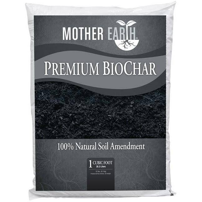 Mother Earth Premium BioChar Organic Soil Enhancer - 1 Cubic Feet