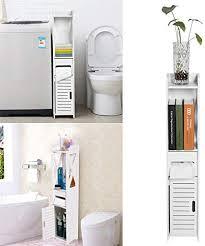 schmaler hoher badezimmerschrank badezimmer aufbewahrung bodenstehend weiß robuste badezimmermöbel badezimmer wc schmales regal