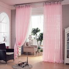 pink jacquard luxury living room curtains kitchen voile crochet