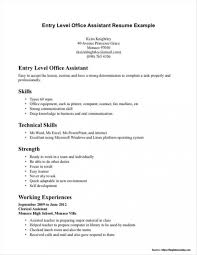 Entry Level Medical Resume Examples 36 Luxury Samples Assistant Templates
