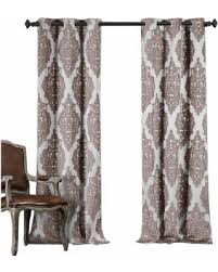 New Savings on Duck River Catilie Damask Curtain Panel Pair Plum
