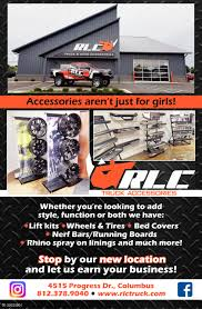 Accssories Aren't Just For Girls!, RLC Truck Accessories, Columbus, IN Welcome To Truck N Car Concepts Accsories By Hytech Auto Trim Rlc Home Facebook Truck Accsories Company Tunes Vehicle Lift Kits Lexington Sc Hudson Brothers Truck Accsories Find Headlight Protectors Clear Airplex The Tint Man Ky Interior Exterior Performance Parts Autotruck Airdrie Fleet Led Series Light Display Grand General