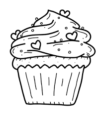 Birthday Cupcake Coloring Pages 11