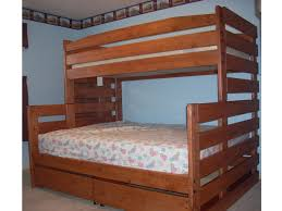 queen bed twin over queen bunk bed plans steel factor