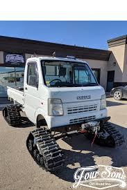 100 Suzuki Mini Trucks Custom Carry DA63T Kei Truck With Camso UTV 4S1 Tracks