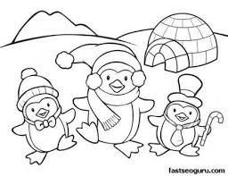 Kleurplaat Printable Coloring Pages Animal Penguins For Kids
