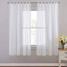 pony vorhang transparent voile stores gardinen voile vorhänge wohnzimmer schlaufenschal 2er set h 175 x b 140 cm weiß