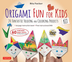 Amazon Origami Fun For Kids Kit 20 Fantastic Folding And Coloring Projects With Book Easy 60 Papers