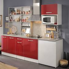 singleküche spectra 3 rot hochglanz 7 teilig 245x208x60 cm küchenzeile expendio