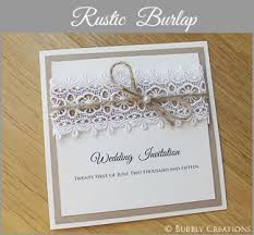 Rustic Wedding Invitation Recycled Kraft Luxury