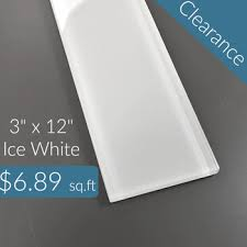 6 X 12 Glass Subway Tile by Ice White Glass Subway Tile 3