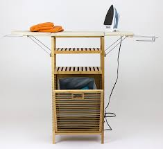 Ironing Board Cabinet With Storage by Amazon Com Corner Housewares Bamboo Ironing Board With Laundry